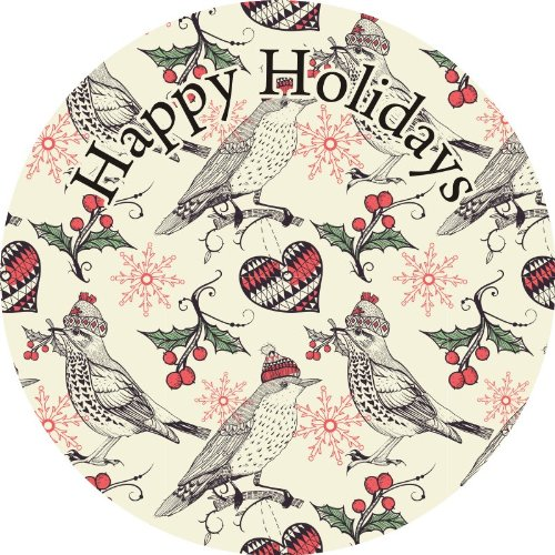 30 1.96inc Happy Holidays Stickers