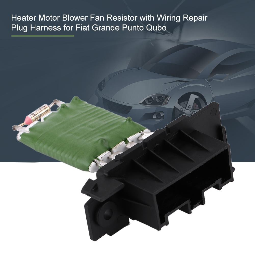 Resistenza per ventola del motore resistenza per ventola di riscaldamento con cablaggio di riparazione 13248240 77364061 per Grande Punto Qubo