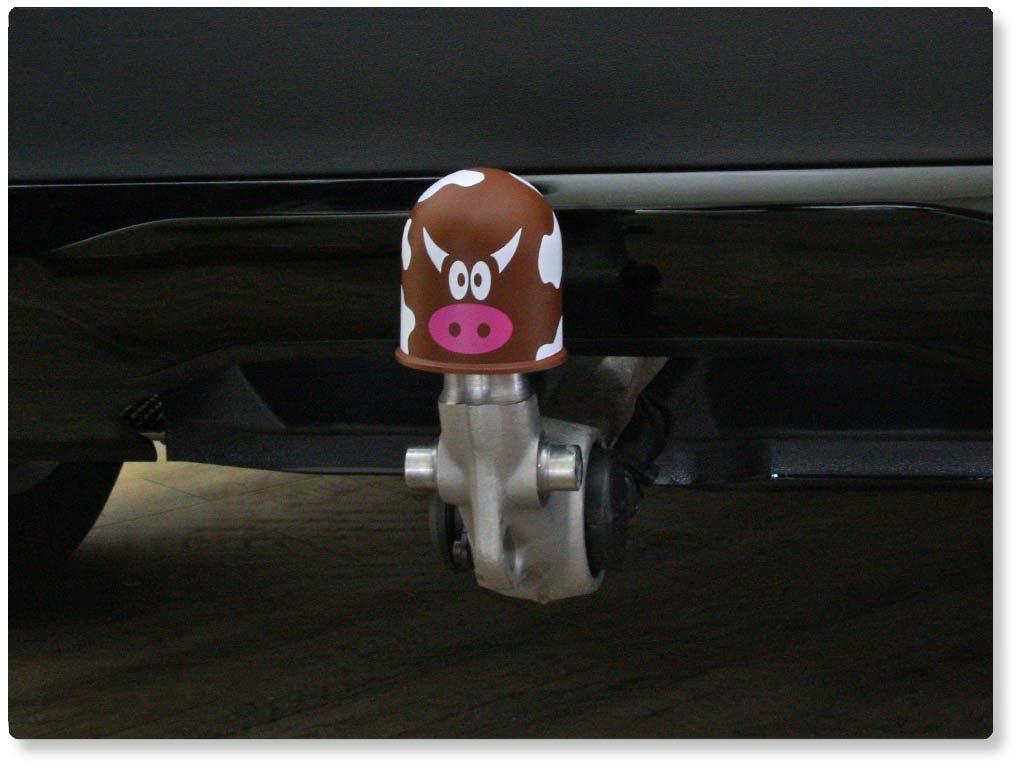 Schutzkappe Anhängerkupplung AHZV Kuhflecken Kuhmuster Kuhfell Kuh Cow schwarz
