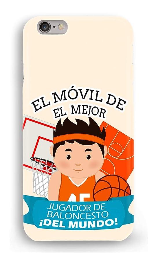 Funda Carcasa Jugador de Baloncesto para iPhone 7 plástico rígido