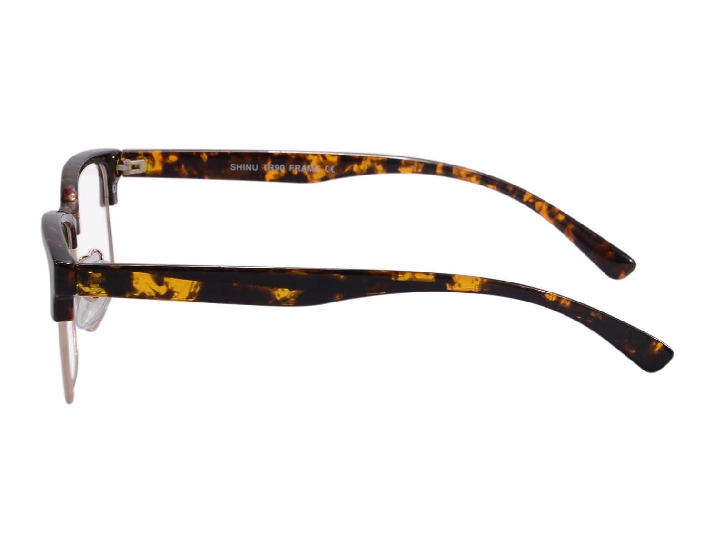 SHINU Vintage Eyeglasses Frame Horn Rimmed Anti Blue Light Computer Glasses-SH018