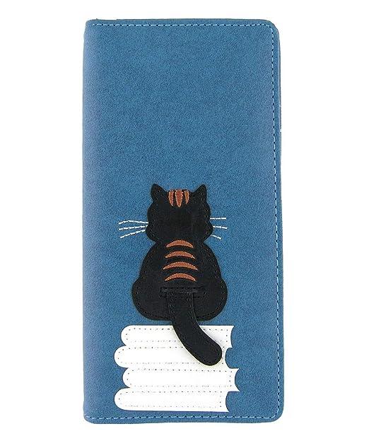 Amazon.com: LAVISHY - Monedero de piel sintética para gato ...