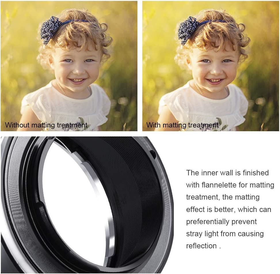 K/&F Concept Lens Mount Adapter EOS EF//EFS Lens to Fuji FX Mount X-Pro1 X Camera X-Series Mirrorless Cameras with Light-reducing Paint