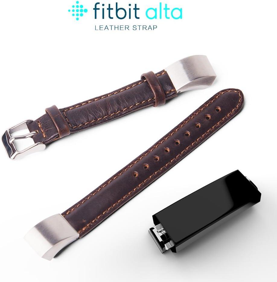 verstellbares bequemes Ersatzband aus Leder mit Edelstahlschnalle f/ür Fitbit Alta 2016//Fitbit Alta HR 2017/ . XIHAMA Band f/ür Fitbit Alta HR//Fitbit Alta ohne Tracker