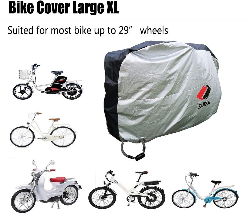 ZUKKA Bike Cover Large XL,Outdoor Waterproof Bicycle Ebike Motorcycle