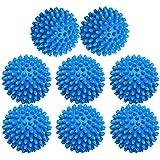 WeTest Pack de 8 bolas secadoras ecológicas, suavizante alternativo, 2 pulgadas, azul