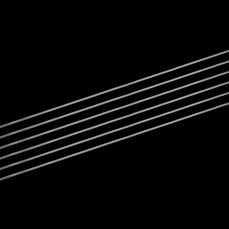 0.7mm Lynlon 6 St/ück Spule Elastisch Schmuckfaden Gummifaden Transparent Faden f/ür Perlenschmuck Armb/änder Basteln