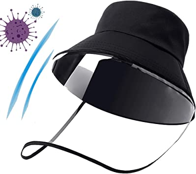 N/_A Anti UV Spittle Pollution Baseball Cap Face Cover Protective Shield Hat