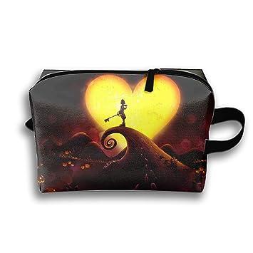 Amazon com : Cosmetic Bag Zipper Storage Bag Portable Ladies