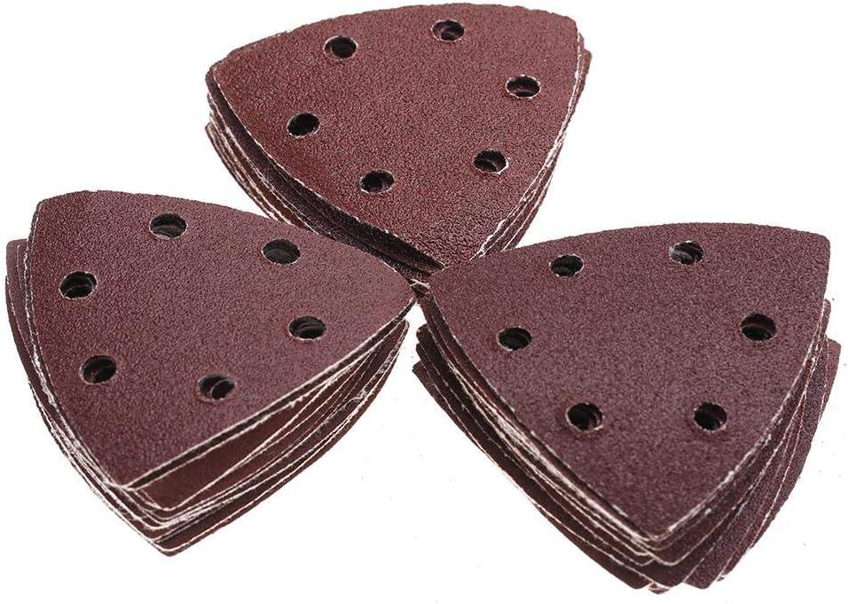 Akozon 50pcs ponceuse abrasive pon/çage du papier de polissage tampons triangulaires abrasif Feuilles abrasives
