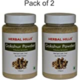 Herbal Hills Gokshur Powder - 100g Each (Pack of 2) Bottle