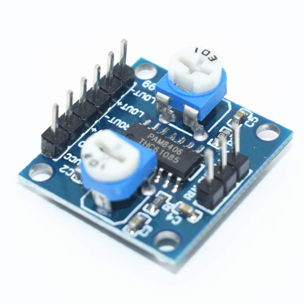 Amplificador Digital 1PCS PAM8406 Board Con Volumen Potenciómetro 5Wx2 Estéreo
