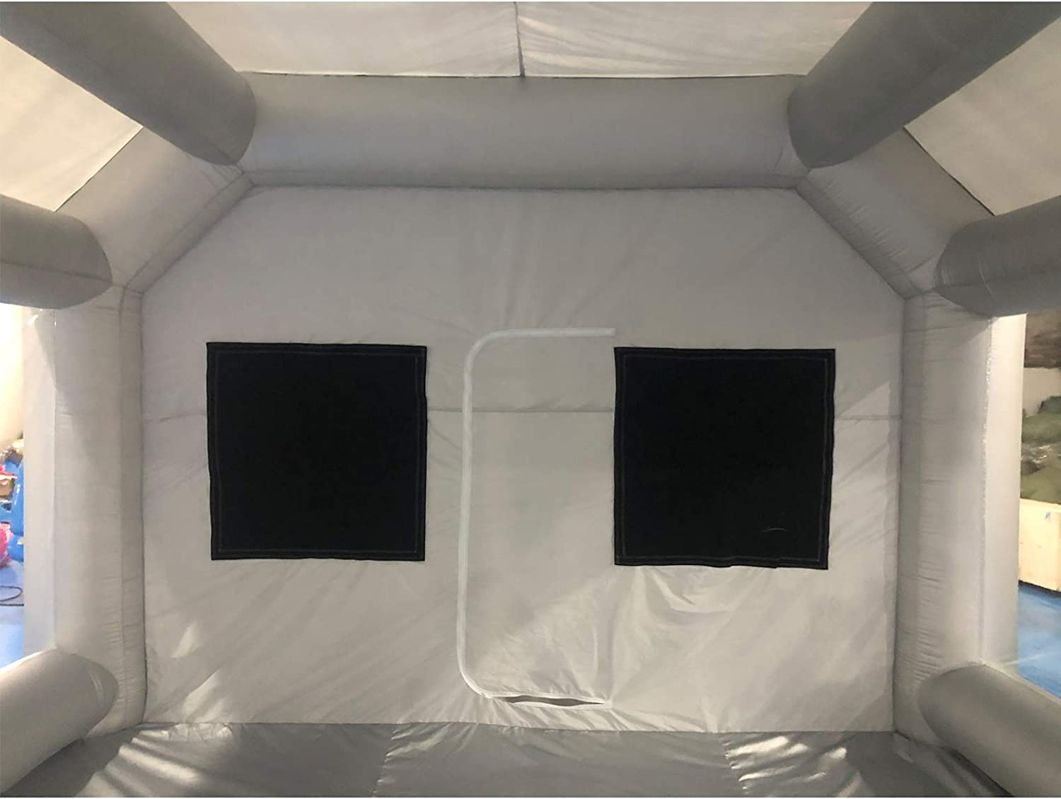 Silver SAYOK Inflatable Paint Booth 33x16.4x11.5ft with 2 Blowers Inflatable Spray Booth with Filter System Portable Car Paint Booth for Car//Door Parking Tent Workstation