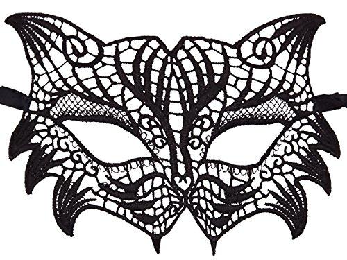 Bonnie Z. Leonardo Lace Mask Masquerade Mask for Women Wolf ()