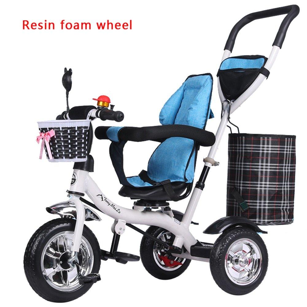 バブルホイールライトトロリー、子供用自転車、自転車、赤ちゃんの女の子のキャリッジ、子供の三輪車 (三 : # 1) B07CZ93N7B # 1