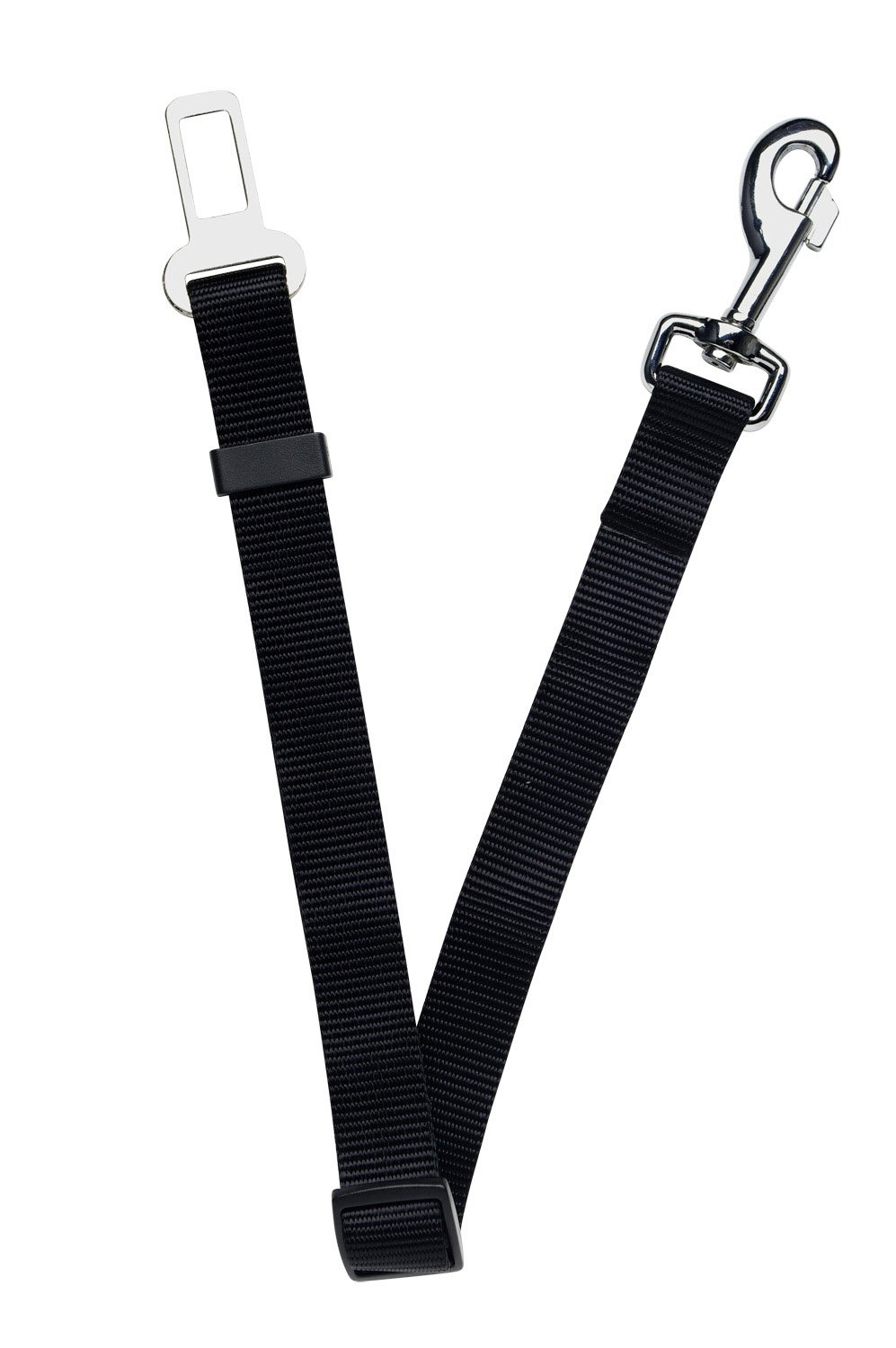 "Dogit Car Safety Belt Universal Attachment, Black 25mm x 55-87cm (1"" x 21.6"" - 34.3"")"