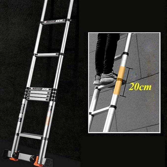 HL-TD Escaleras Extensibles Escalera Plegable De Aluminio De Extensión Plegable Escalera Telescópica Escaleras Rectas Telescópicas Heces (Size : 2.3+2.3M-ATypeLadder): Amazon.es: Hogar
