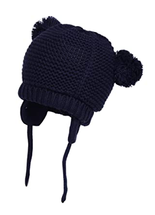Lanzom Baby Boy Girl Warm Fall Winter Hat Cute Bear Toddler Earflap Beanie  Hat (Style 57353ad7daa4