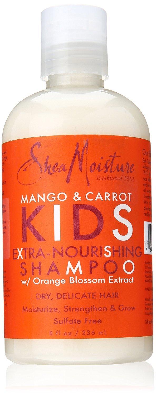 Shea Moisture Mango & Carrot Kids Extra-Nourishing Shampoo 235 ml (Pack of 2)
