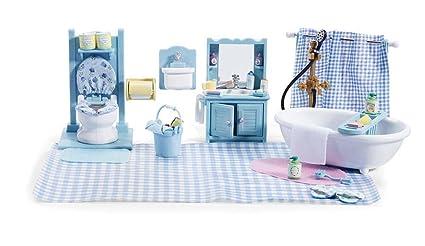 Amazoncom Calico Critters Master Bathroom Set Accessories Toys - Calico critters bathroom
