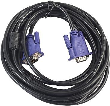 LEDMOMO Cable VGA de 5 metros para cable de monitor macho a macho ...