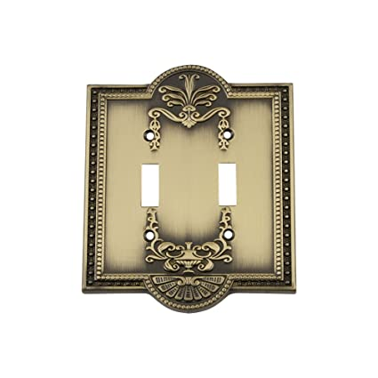 Nostalgic Warehouse 719711 Meadows Switch Plate With Double Toggle