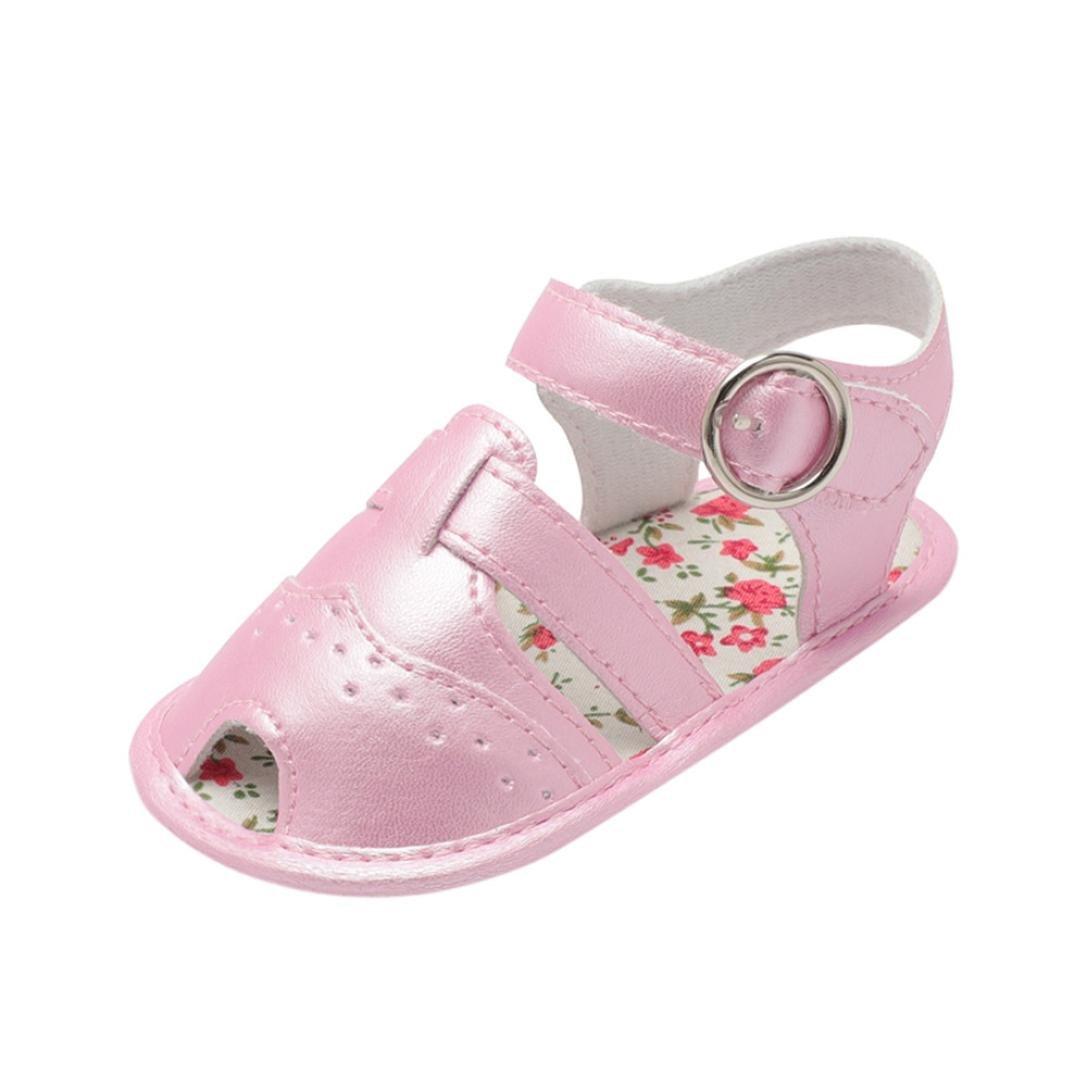 yjydada幼児ベビーBoy Kids Cartoonベビーベッド靴ソフトソール滑り止め中空サンダル靴 B07DHDFT2Z  ピンク 13