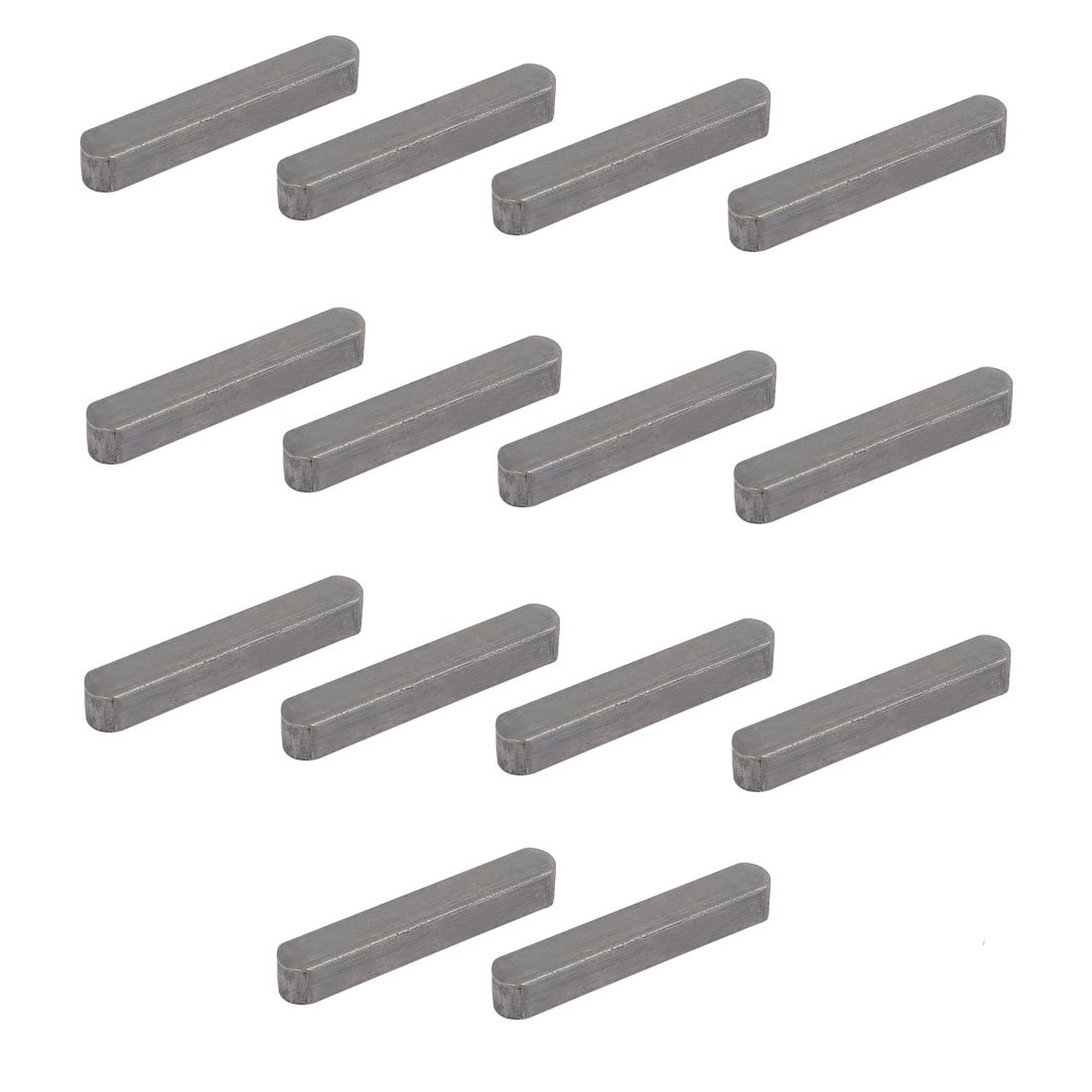 uxcell 50mmx8mmx7mm Carbon Steel Key Stock to Lock Pulleys 14pcs