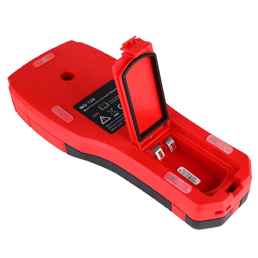 Akozon Detector de Pared Digital Metal AC Cable Live Wire Madera Buscador,para Pared y Techo (MD120)