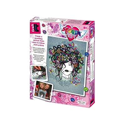 Sequin Art Craft Teen FLOWER GIRL Sparkling Arts and Crafts Kit: Toys & Games