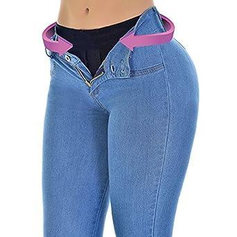 Pantaloni per Donna Moda Jeans Stretch Skinny Boyfriend Jeans Push Up  Autunno Leggings Azzurro S  Amazon.it  Abbigliamento ac01ed72c6d