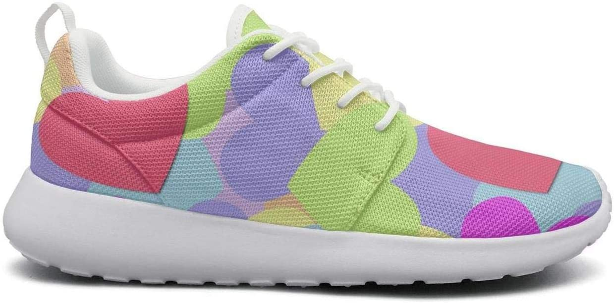 Gjsonmv Colorful Heart Valentine Day mesh Lightweight Shoes for Women Non Slip Sports Trail Running Sneakers Shoes