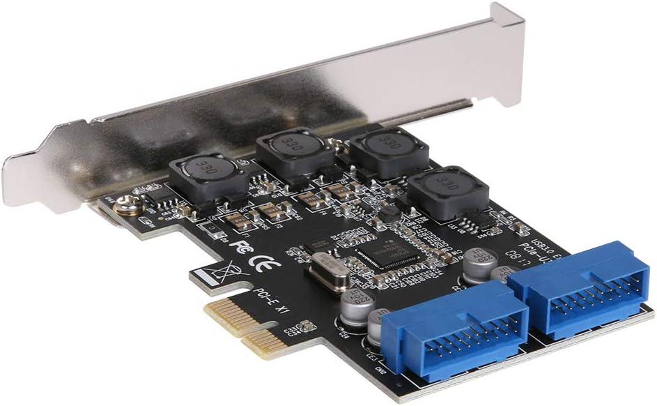 BKAUK USB 3.0 Pcie Pci Express Adaptador De Tarjeta De Control Pci-E Tarjeta De Expansi/ón Transferencia Pcie Frontal del Escritorio Usb3.0 Tarjeta De Adaptador De Interfaz De 19 Pines