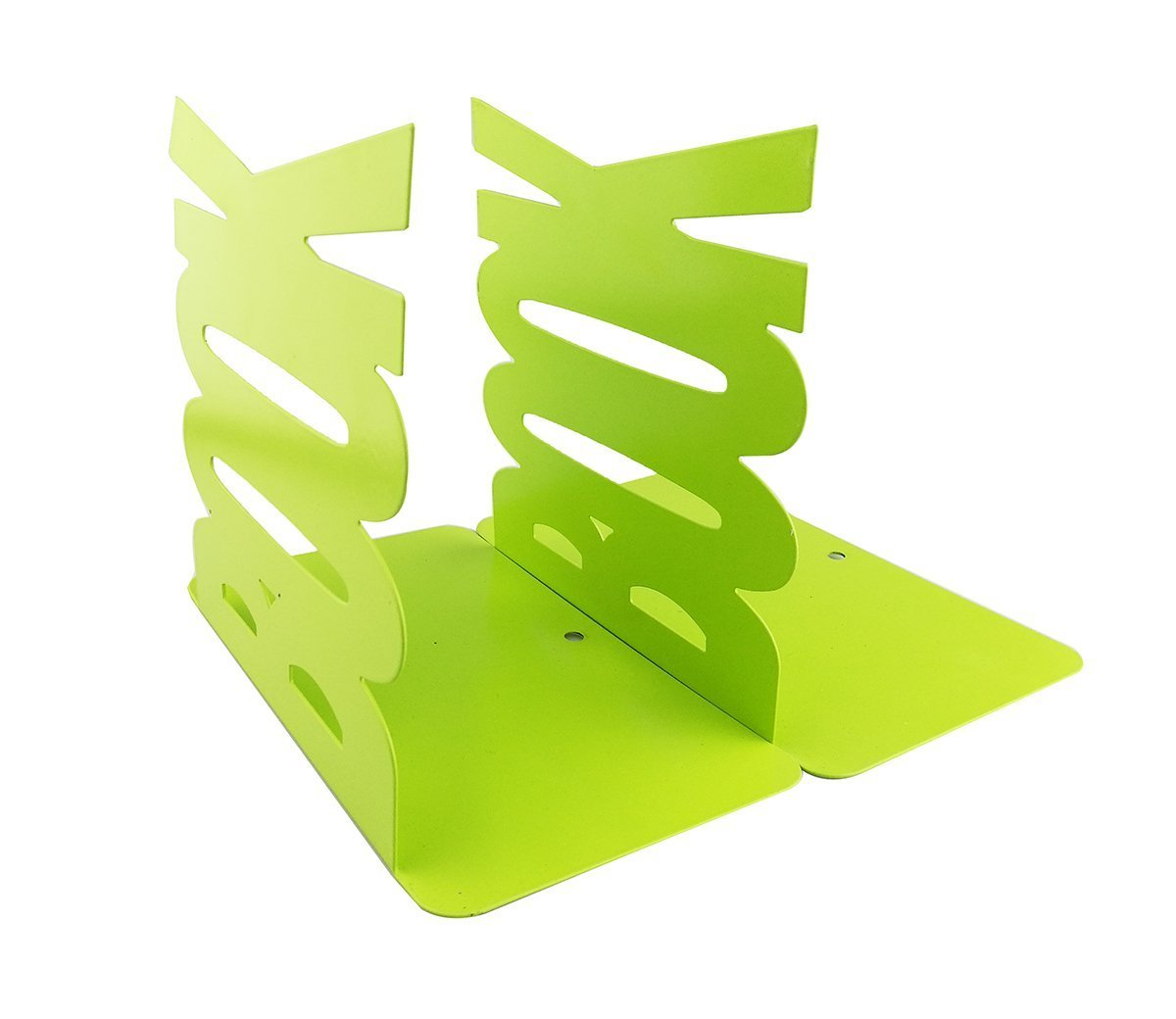Winterworm Cute Fashion Book Style Nonskid Bookends Art Bookend Home Office Kitchen Book Shelf (Green)