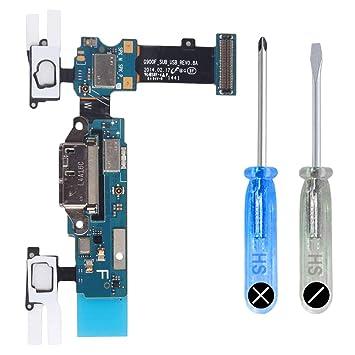 MMOBIEL Conector Dock Cargador para Samsung Galaxy S5 G900F de Repuesto. Puerto Micro USB Cable Flex con Adhesivo. Incluye Dos Destornilladores y ...