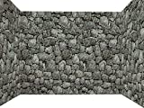 outside wall decor Forum Novelties Dungeon Decor Indoor/Outdoor Stone Wall Backdrop, 100', Gray