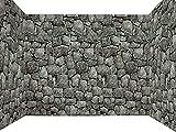 Forum Novelties Dungeon Decor Indoor/Outdoor Stone Wall Backdrop, 100', Gray