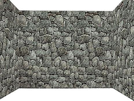 Forum Novelties Dungeon Decor Indoor/Outdoor Stone Wall Backdrop 100\u0027 ... & Amazon.com: Forum Novelties Dungeon Decor Indoor/Outdoor Stone Wall ...