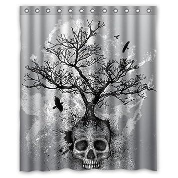 Creative Skull Tree Black Eagle Shower Curtain 60u0026quot ...