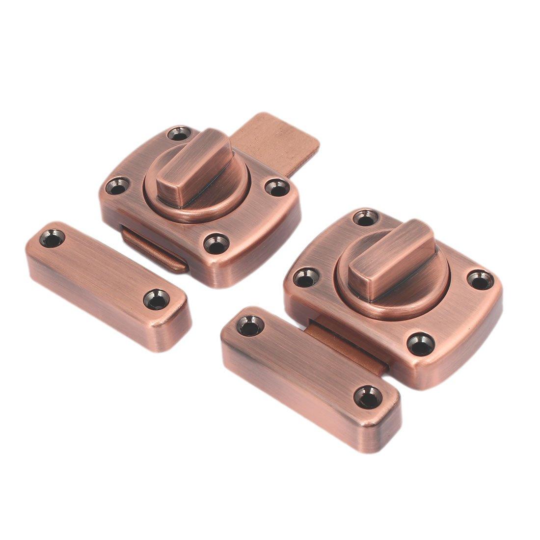 uxcellFurniture Cupboard Cabinet Door Metal Barrel Bolt Latch Lock Copper Tone 2pcs
