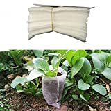 MoMA 100pcs/Pack 810cm Non-Woven Fabric Seedling Raising Bags Nursery Pots Row Bag Planter Bag Home Garden Supplies.