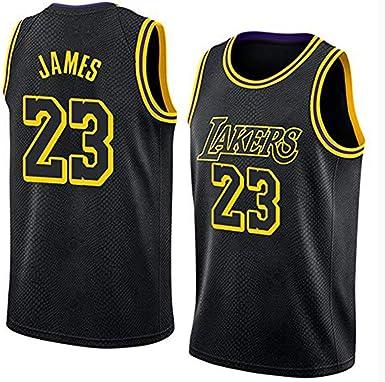 Lebron James # 23 Camiseta De Baloncesto De Los Hombres - NBA Los Angeles Lakers, Sin Mangas Bordado Nueva Tela De La Camisa,Black-XS: Amazon.es: Ropa y accesorios