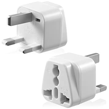 Universal Power Adapter Type G, Fosmon [CE Certified] USA to UK HongKong  International