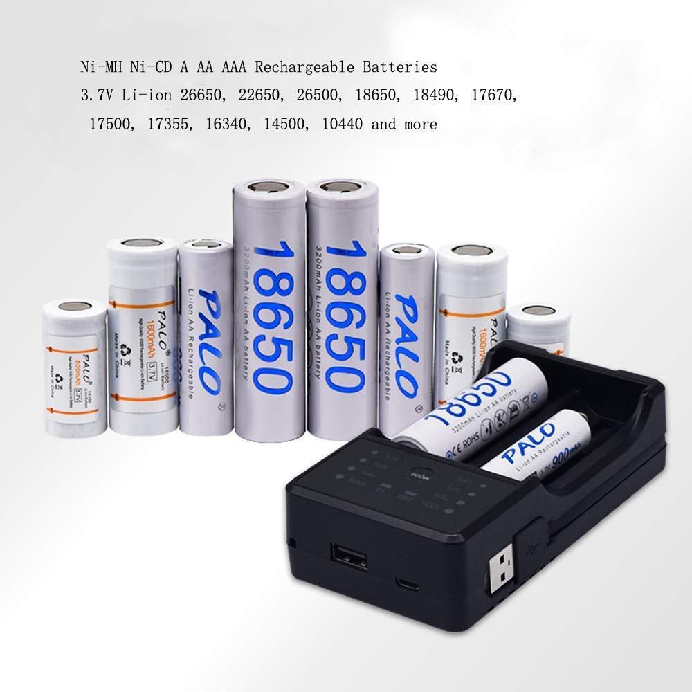 Amazon.com: PALO - Pilas recargables de Ni-MH con cargador ...