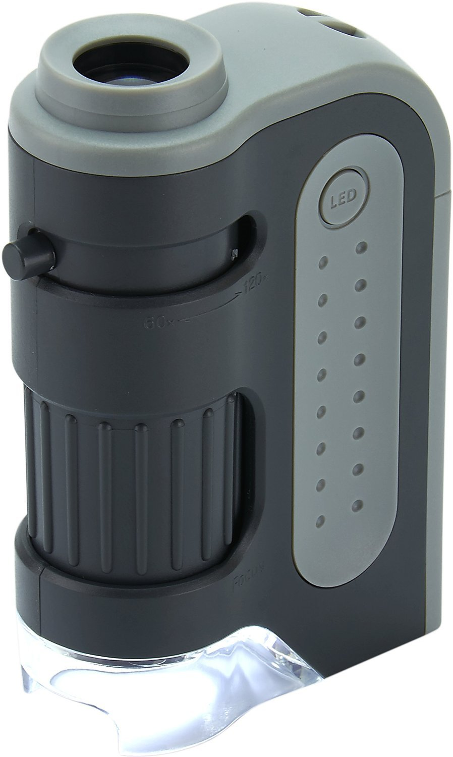 Carson MicroBrite Plus 60x-120x LED Lighted Pocket Microscope by Carson