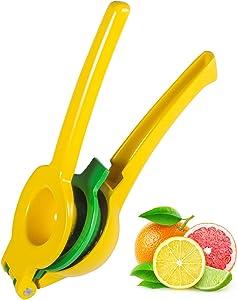 Lemon juicer, Manual Citrus Juicer, 2-in-1 Lemon /Lime Squeezer Fruits Juicer,High-Quality Metal Lemon Juicer,