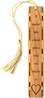product image for Teacher Quote, Engraved Wooden Bookmark with Tassel - Search B072N9MW2M for Personalized Version