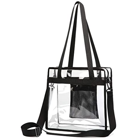 Clear Tote Bag, F-color Clear Bag Stadium Approved Crossbody Bag for Women Men