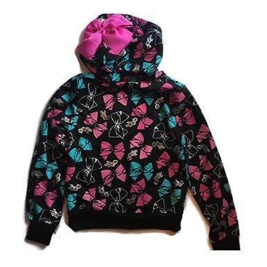 21919f857ea Amazon.com  Girls Jojo Siwa Fleece Sweatshirt Lightweight Hoodie ...