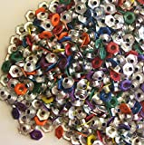 Bulk Rate 1/8'' Assorted Color Top Painted Hexagon Aluminum Eyelets - 500 Pack